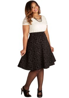 Stage Show Supporter Skirt. Your contributions to the city theater have earned you a front row seat at tonights show, so you glide down the aisle in this black skirt and take your seat. on sale $26.99