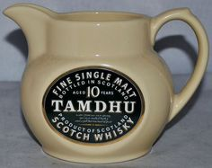 TAMDHU Scotch Whisky Water Jug by Seton Pottery, in Excellent Condition