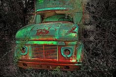 Truck Abandoned. Love these colors