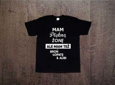 Koszulka męska, nadruk 'mam piękną żonę' Prezent na Dzień Chłopaka