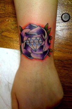 Flowers Diamond Tattoo Designs And Meaning On Hand Image