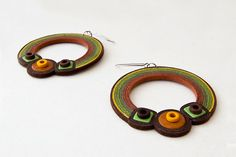 BIG HOOPS EARRINGS with ceramic beads and by alexandraJewelrySHOP, $31.00
