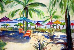 Caribbean Time ~ watercolor print