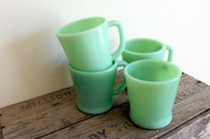 vintage jadite diner mugs like the ones from the cottage.
