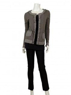Sweatjacke, schlamm - Easy Fashion