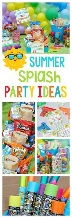 Water Party Ideas | Summer Splash Party - super fun outdoor activities for kids http://babyparents.win #kidsbirthdaypartyideas