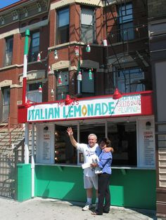 Mario's in Chicago's Little Italy, on Taylor Street, the best Italian lemonade!  Take a stroll down Taylor Street in Little Italy with a cup of lemon ice from Mario's Italian Lemonade (1068 W. Taylor St.) in hand