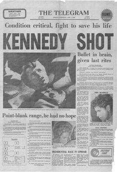 Robert Kennedy assassination news paper headline Newspaper Headlines, Old Newspaper, Los Kennedy, Jackie Kennedy, Ethel Kennedy, Robert Kennedy Assassination, Cultura General, Headline News, Modern History