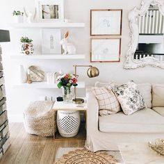 After spring cleaning comes spring sprucing, and we're taking some design tips from @ohmydearhandmade cozy chic #LTKhome set up | Get ready-to-shop decor details with www.LIKEtoKNOW.it | www.liketk.it/2m6dJ #liketkit