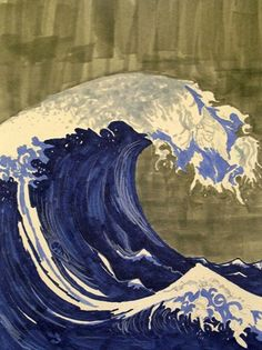 Hiroshige - big blue wave