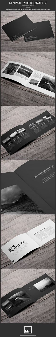 40 Page Minimal - Photography Portfolio Book on Behance
