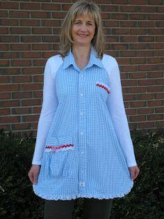 Cutie Pinwheel: Shirt Apron Tutorial... Part One!