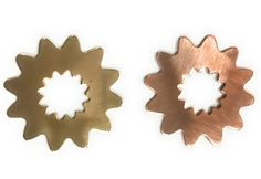 Qty 4 24.6mm Flower Copper or Brass