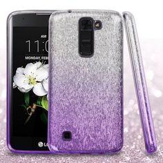 LG K7 Phone Case, LG K7 Case, LG Escape 3 Case, by Insten Hard Dual Layer Glitter TPU Case For LG K7 K8 Escape 3 Treasure LTE case cover