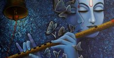 why lord Krishna blue in color? Krishna is the omnipotent, supreme god. He can appear in a number of forms. God is always possesses a wonderful form.