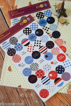 kawaii Funny Stickerworld colorful deco sticker DOTS Travel Coffee Spring theme | eBay