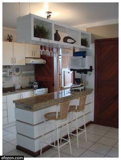 Kitchen Bar Design, Home Decor Kitchen, Interior Design Kitchen, New Kitchen, Home Kitchens, Kitchen Ideas, Decorating Kitchen, Diy Decorating, Small Modern Kitchens