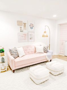Dandelion Designs, Productive Day, Interior Decorating, Interior Design, Floral Pillows, Playroom, Everything, Love Seat, Toddler Bed