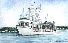 Boat Watercolor Painting - Pacific Reefer   Flickr - Photo Sharing!