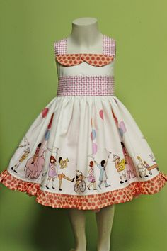 Girls Twirl Dress:  It's a Parade  - Summertime Collection. $48.00, via Etsy. Adorable!