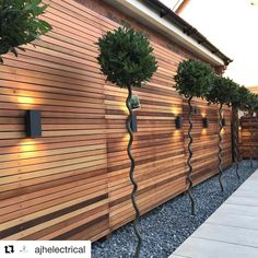 "1,828 Likes, 13 Comments - The Modern Landscaper (@the.modern.landscaper) on Instagram: ""Brilliant landscape and lighting done by @ajhelectrical! ✨ • • • Thanks for helping grow the…"" #ModernLandscaping"