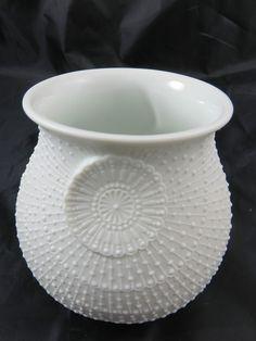 AK KAISER Vase Porzellan Vase Tisch Vase Biskuitporzellan Weiß, M.Frey | eBay