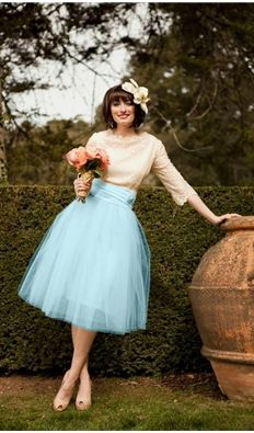 Vintage Bridesmaids Tulle Skirt | True Love Skirt; use as starter for wedding dress idea