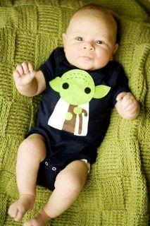 So cute on baby this Yoda onesie is. Hmmmmm? #starwars