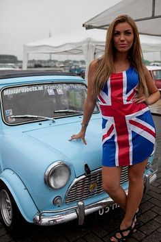 Great British day, Mini and girl