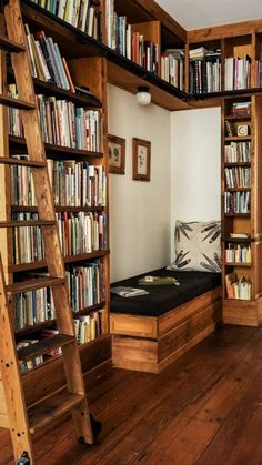 Home Library Rooms, Home Library Design, Home Libraries, House Rooms, House Design, Cozy Home Library, Library Bedroom, Dream Library, Room Decor Bedroom