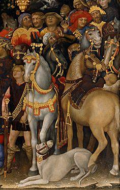 Gentile da Fabriano - Adoration of the Magi, 1423, tempera on panel, (Uffizi Gallery, Florence)