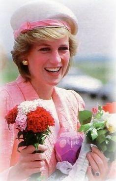 Princess Di in pink.