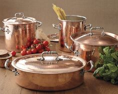 Ruffoni Convivium Hammered Copper pots (made in Italy)