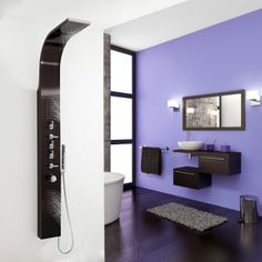 Thermostatic Shower Panel with Waterfall Head