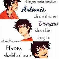 Percy Jackson the hero. Mr. Famous over here