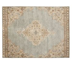 Bryson Persian-Style Tufted Wool Rug, 9 x 12', Blue