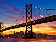 Familiar Skylines   SanDisk San Francisco - Paul Reiffer:   One of my favorite cityscapes in the world. Sure, the Golden Gate Bridge steals the limelight for most of San Francisco's postcard shots, but the Bay Bridge gets my vote at night. With such a dramatic show of colors as the sun sets over the Pacific Ocean, the silhouette of this distinctive skyline is one that everybody should see in their lifetime.
