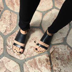 sandales noires femme, spartiates femme noires