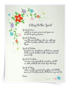Image result for Litany to the Spirit prayer