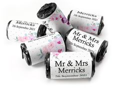 Wedding Favours - Love Heart Sweets with Colour Foil choices - Wedding Favours Love Hearts, Wedding Favour Sweets, Wedding Favors, Mint Sweets, Love Heart Sweets, One Design, Choices, This Or That Questions, Mr Mrs