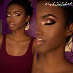 #TrinidadMua #BeautyMarkedByAngel #TheGlitterGoddess |•Grad Beat•| @angel_cumberbatch @angelcumberbatchmakeupartistry