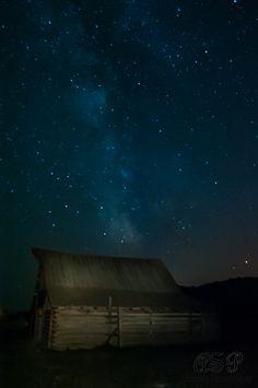 Milky Way over Mormon Row Barn, Grand Tetons NP