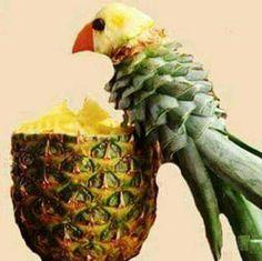 Abacaxi pássaro Mais
