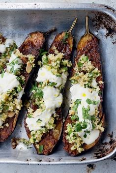 Chermoula eggplant with bulgur and yogurt - This recipe sounds amazing. Remove the raisins and you are eating clean low sugar.