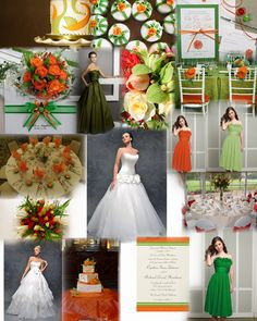 Image detail for -Orange and Green Wedding Colour Theme by wwwglamourousgownscouk