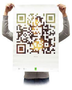 Mona Lisa in QR code