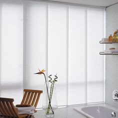 Fabric Sliding Panels - Light Filtering - Valance Optional