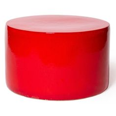 Cylinder Indoor/Outdoor Cocktail Table - Red