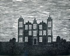 lino print the night house by nothingtralala on Etsy, £25.00
