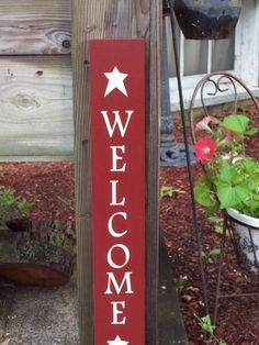 Items similar to Welcome - Rustic Sign with Twine Detail on Etsy